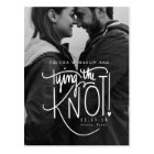 Black and White Photo Save The Date Postcard