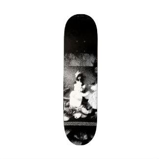 Black and white photo skate deck