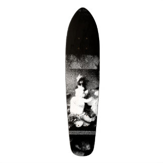 Black and white photo skate boards