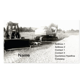 black and white photof construction equipment pack of standard business cards