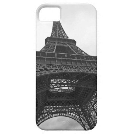 Black and white photograph of the Eiffel Tower iPhone 5 Cover