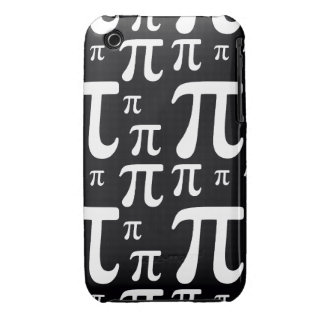 Black and White Pi Pattern iPhone 3 Cases