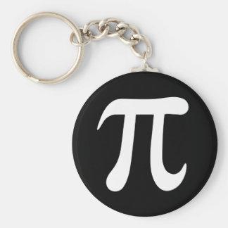 Black and white pi symbol keychain or keyring