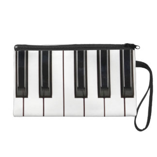 Black and White Piano Keyboard Case Cover Wristlets