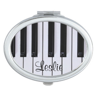 Black and White Piano Keys Compact Mirror