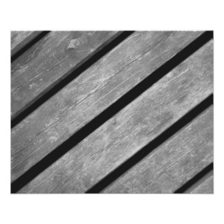 Black and White Picture of Wood Planks 11.5 Cm X 14 Cm Flyer