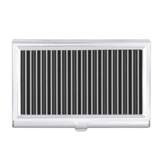 Black and White Pinstripe Business Card Holder