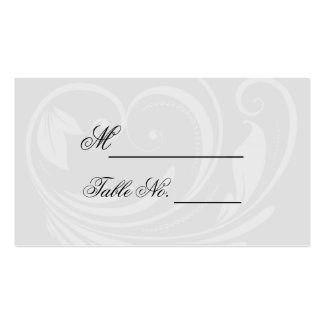 Black and White Pinstripe Heart Wedding Place Card Pack Of Standard Business Cards