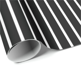 Black and White Pinstripe Wrapping Paper