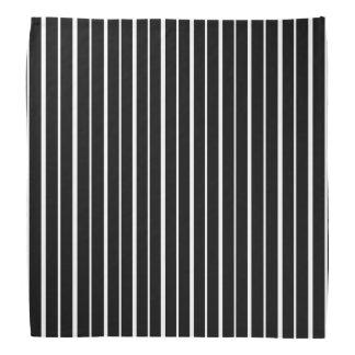 Black and White Pinstripes Bandana