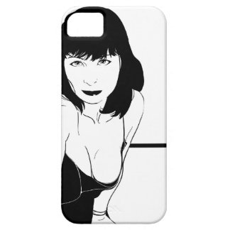 black and white pinup girl for iphone iPhone 5 cases