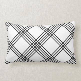 Black and White Plaid American MoJo Pillo Throw Cushions