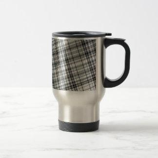 Black and White Plaid Background Mug