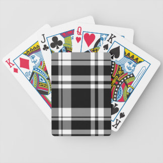 Black and White Plaid Bicycle Playing Cards