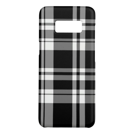 Black and White Plaid Case-Mate Samsung Galaxy S8 Case