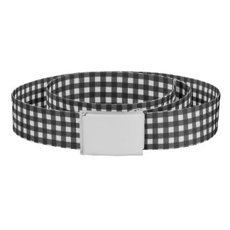 Black and White Plaid Check Pattern Belt