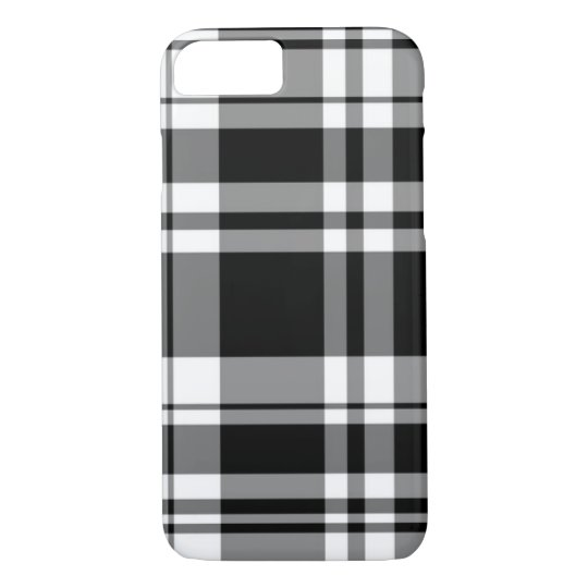 Black and White Plaid iPhone 8/7 Case