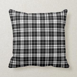 Black and White Plaid Pillow