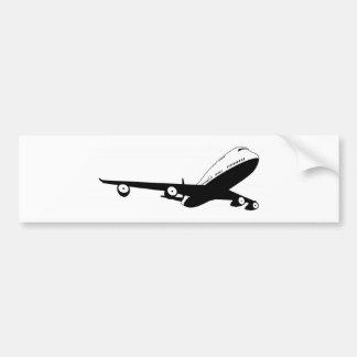Black and white plane bumper sticker