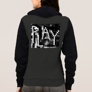 Black and White PLAY Art Texture Hoodie