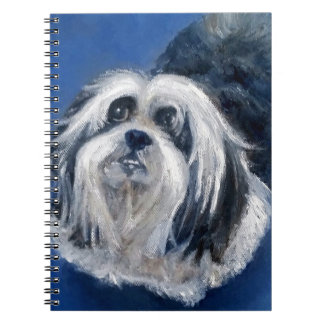 Black and White Playful Small Dog Notebook
