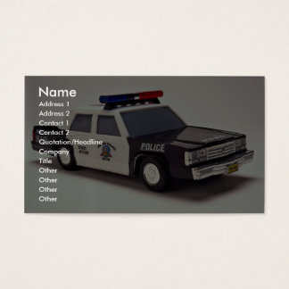 Black and white police car business card