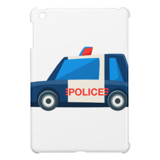 Black And White Police Toy Cute Car Icon Cover For The iPad Mini