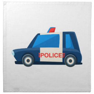 Black And White Police Toy Cute Car Icon Napkin