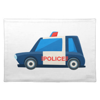 Black And White Police Toy Cute Car Icon Placemat