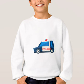 Black And White Police Toy Cute Car Icon Sweatshirt