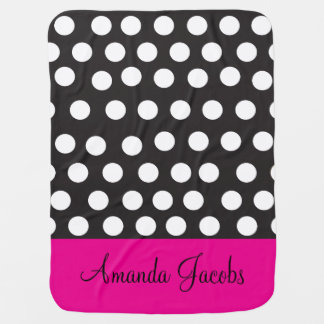 Black and White Polka Dot Baby Blanket