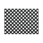 Black and White Polka Dot Doormat