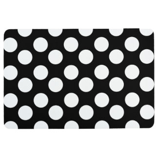 Black and White Polka Dot Floor Mat