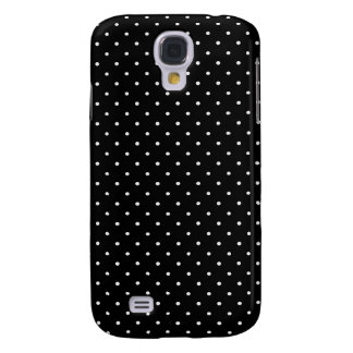 Black and white polka dot galaxy s4 cover