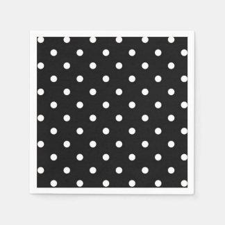 Black and white polka dot modern fashion disposable serviettes