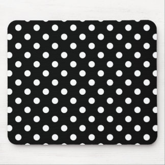 Black and White Polka Dot Mousepads