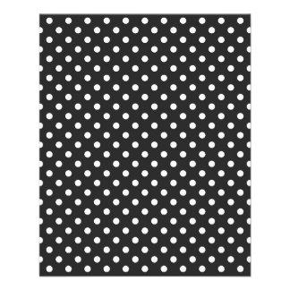 Black and White Polka Dot Pattern 11.5 Cm X 14 Cm Flyer