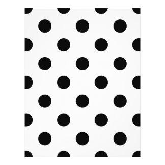 Black and White Polka Dot Pattern 21.5 Cm X 28 Cm Flyer