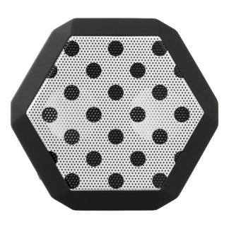 Black and White Polka Dot Pattern Black Bluetooth Speaker