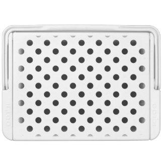 Black and White Polka Dot Pattern Cooler