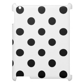 Black and White Polka Dot Pattern Cover For The iPad