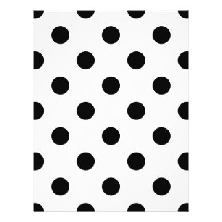 Black and White Polka Dot Pattern Flyer