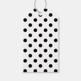 Black and White Polka Dot Pattern Gift Tags