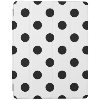 Black and White Polka Dot Pattern iPad Cover
