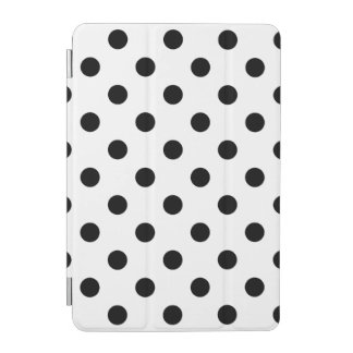 Black and White Polka Dot Pattern iPad Mini Cover