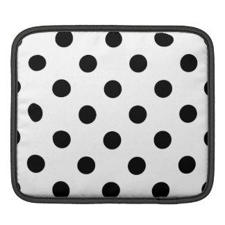 Black and White Polka Dot Pattern iPad Sleeve