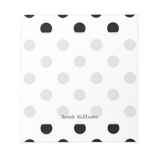 Black and White Polka Dot Pattern Notepad