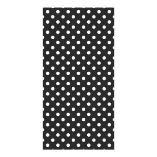 Black and White Polka Dot Pattern Photo Card Template