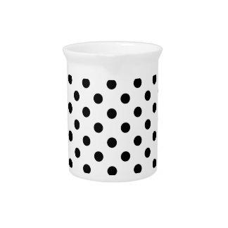 Black and White Polka Dot Pattern Pitcher