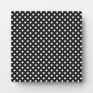 Black and White Polka Dot Pattern Plaque